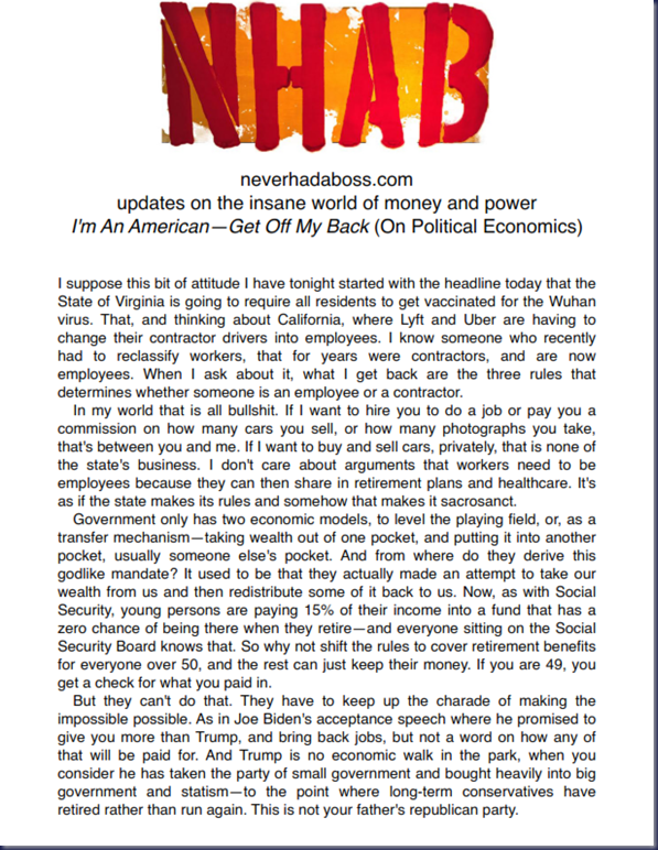 I'm An American—Get Off My Back (On Political Economics)_001