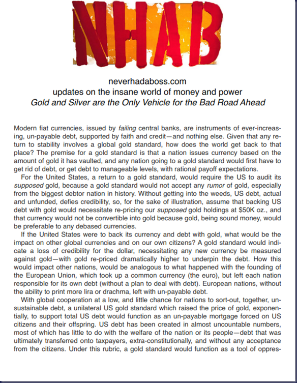 Gold and Silver are the Only Vehicle for the Bad Road Ahead_001